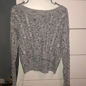 Wet Seal Cropped Black/White Sweater